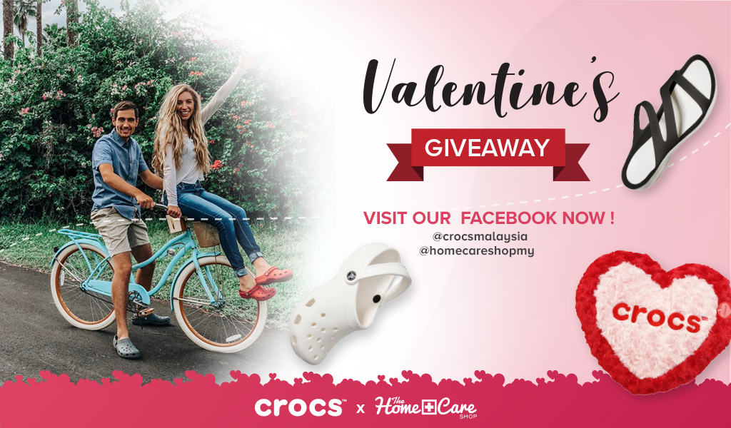 Stand a chance to Win a pair of Crocs Shoes! Join HomecareXCrocs Valentine's Giveaway now!
